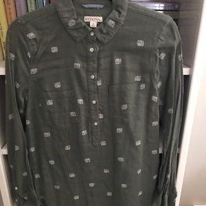 Target brand button down shirt
